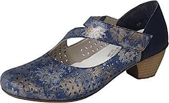81abcdfb0300 Rieker Damen Schuhe Pumps Blau Metallic 41746-90, EU 40