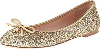 1d95bd11a761 Kate Spade New York Womens Willa Ballet Flat Gold Glitter 7 UK 7 M US