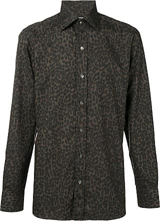 Tom Ford Camisa animal print - Marrom