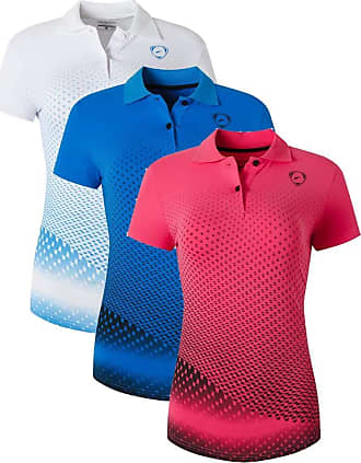 Jeansian Womens 3 Packs Sport Quick Dry Polo T-Shirt SWT251 PackF XL