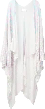 Zadig & Voltaire paint splash effect knitted poncho - White