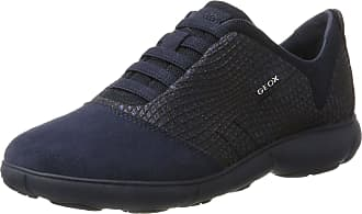 d3d445fffe7 Geox Women D Nebula A Low-Top Sneakers, Blue (Navy), 7.5