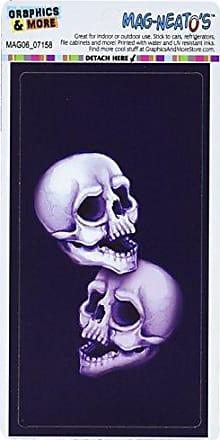 Graphics & More Pair of Skulls Mag-Neatos Automotive Car Refrigerator Locker Vinyl Magnet