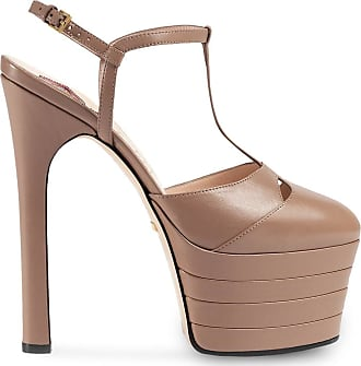 Gucci Sandália plataforma de couro - Rosa