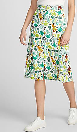 Icone Festive jungle buttoned skirt