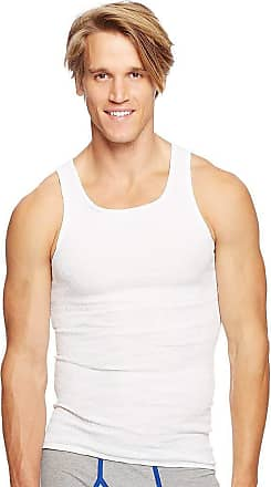 Hanes Mens 6Pack White A-Shirts Tagless Undershirts Tanks Tank Tops