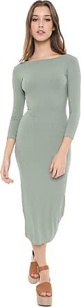 Dress To Vestido Dress to Midi Canelado Verde