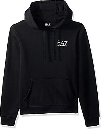 Emporio Armani EA7 Mens Train Core ID Fleece Hoodie, Black, Medium