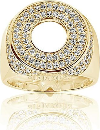 Sif Jakobs Jewellery Signet Ring Novello Altro - 18k gold plated with white zirconia
