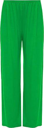 21Fashion Ladies Fancy Party Wide Leg Plain Palazzo Trouser Womens Plus Size Flared Pants Jade Green 3X Large
