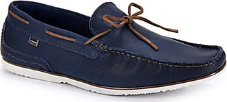 Freeway Mocassim Couro Freeway Marselha Wax Masculino - Azul Cobalto - 43