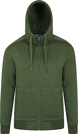 Mountain Warehouse Nevis Mens Fur Lined Hoodie - Soft Fleece Sweatshirt, Warm, Comfortable, Adjustable Hood & Front Pockets Zip Up Hood - for Winter Walking & Jogging Kh