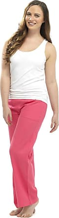 Tom Franks Ladies Women Full Length Linen Trousers with Elasticated Waist