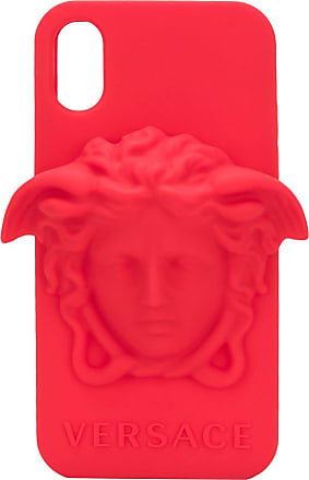Versace Capa para iPhone X Medusa - Vermelho