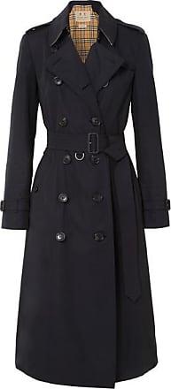fed16a22e5c0 Burberry Trench-coat Long En Gabardine De Coton The Chelsea - Bleu nuit