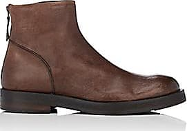 Barneys New York Mens Leather Back-Zip Boots - Brown Size 10.5 M