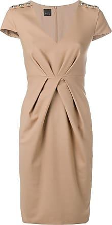fe6095dfc10aa Pinko robe mi-longue à détail froncé - Tons Neutres