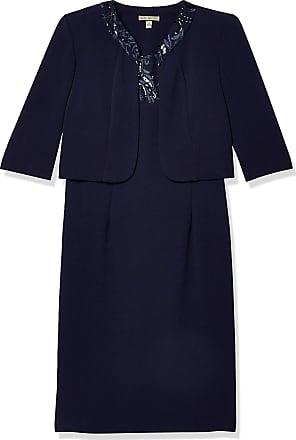 MAYA BROOKE Damen Zig Zag Striped Jacket Dress Kleid