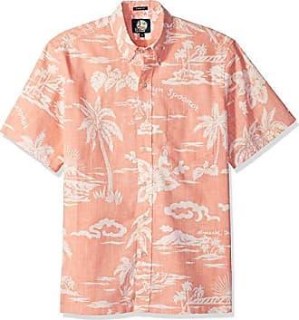 dbea676e Reyn Spooner Mens My Private Isle Spooner Kloth Classic Fit Hawaiian Shirt,  Coral, S