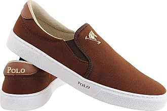 Polo Joy Tênis Polo Joy Slip On Iate Masculino Cano Baixo Casual Cafe 43