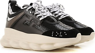 Versace Sneakers for Women On Sale, Black, Leather, 2017, 11 5 6 6.5 9