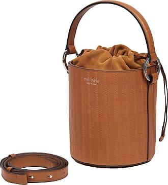 Meli Melo Meli Melo Santina Tan Woven Leather Bucket Bag for Women