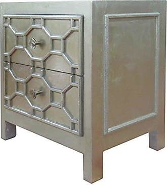 New Pacific Direct 2100004-AC Silvestro Side Table Furniture, Antique Champagne
