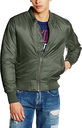Urban Classics Mens Basic Bomber Jacket, Green (Olive 176), XXL