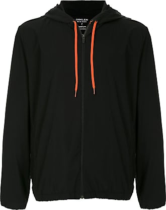 Osklen contrast-drawstring zip-up hoodie - Black