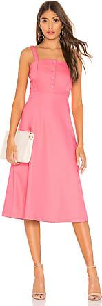 L'Academie The Sabine Midi Dress in Pink