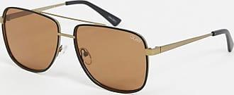 Quay Quay modern times square sunglasses in brown