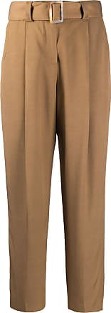 PT01 belted crop trousers - Brown