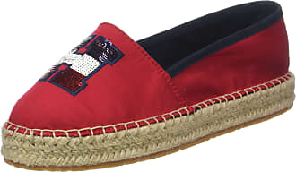 1bfbf83a8afd0 Tommy Hilfiger Womens Th Sequins Espadrille (Tango Red 611)