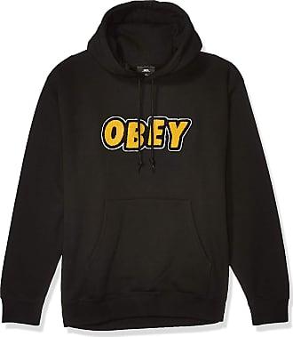 Obey Mens Jumble Hooded Sweatshirt, Black, Medium
