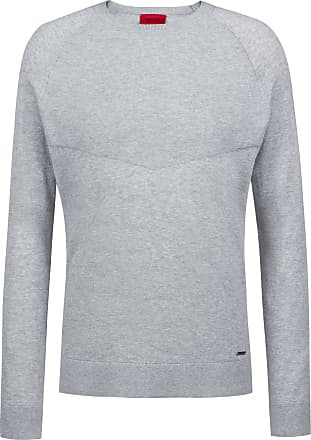 a1b80ec223 HUGO BOSS Regular-fit sweater in pure cotton with placed structure