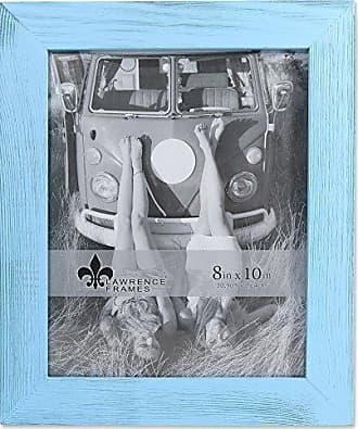 Lawrence Frames 8x10 Sarasota Weathered Blue Wood Picture Frame