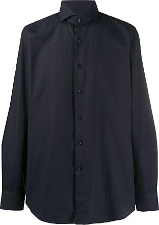 Xacus spread-collar shirt - Blue
