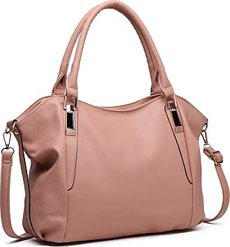 Quirk Soft Leather Look Slouchy Hobo Shoulder Bag Nude