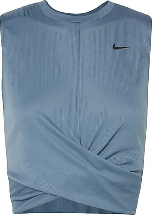 Nike Cropped Twisted Dri-fit Tank - Teal