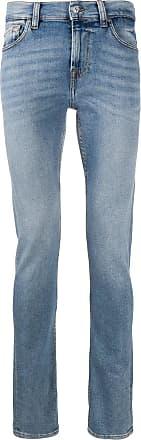 7 For All Mankind Calça jeans slim cintura média - Azul