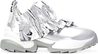 Sergio Rossi Extreme Sneakers mit Metallic-Detail - Silber