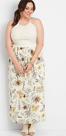 Maurices Plus Size - Crocheted Top Floral Maxi Dress
