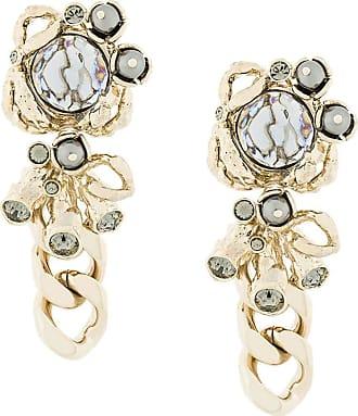 Koché abstract chain drop earrings - Metálico