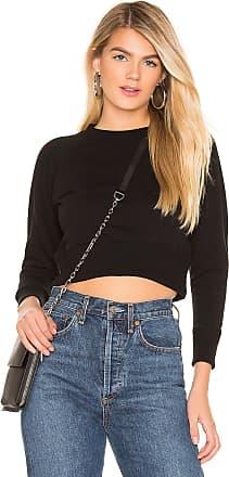 Hanes x Karla The Crop Sweatshirt in Black