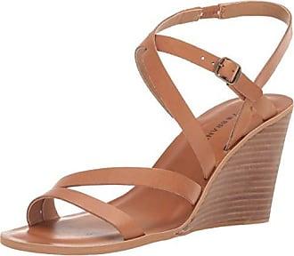 Lucky Brand Lucky Womens NOEMIA Wedge Sandal, Caramel, 7 M US