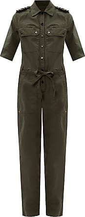 Zadig & Voltaire Branded Military Jumpsuit Womens Green