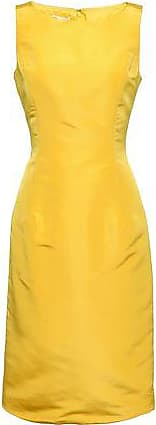 Oscar De La Renta Oscar De La Renta Woman Silk-faille Dress Bright Yellow Size 10