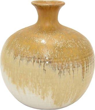 Three Hands Brown Ceramic Vase - 57605