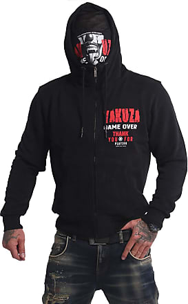 Yakuza Mens Game Over Ninja Zip Hoodie - Black - X-Large
