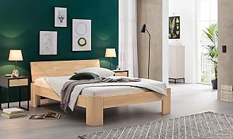 Ravensberger Matratzen Bett Laura, Buche massiv, 160 cm x 220 cm, Sitzhöhe 43 cm, Kopfteil Nr. 40, Weiß